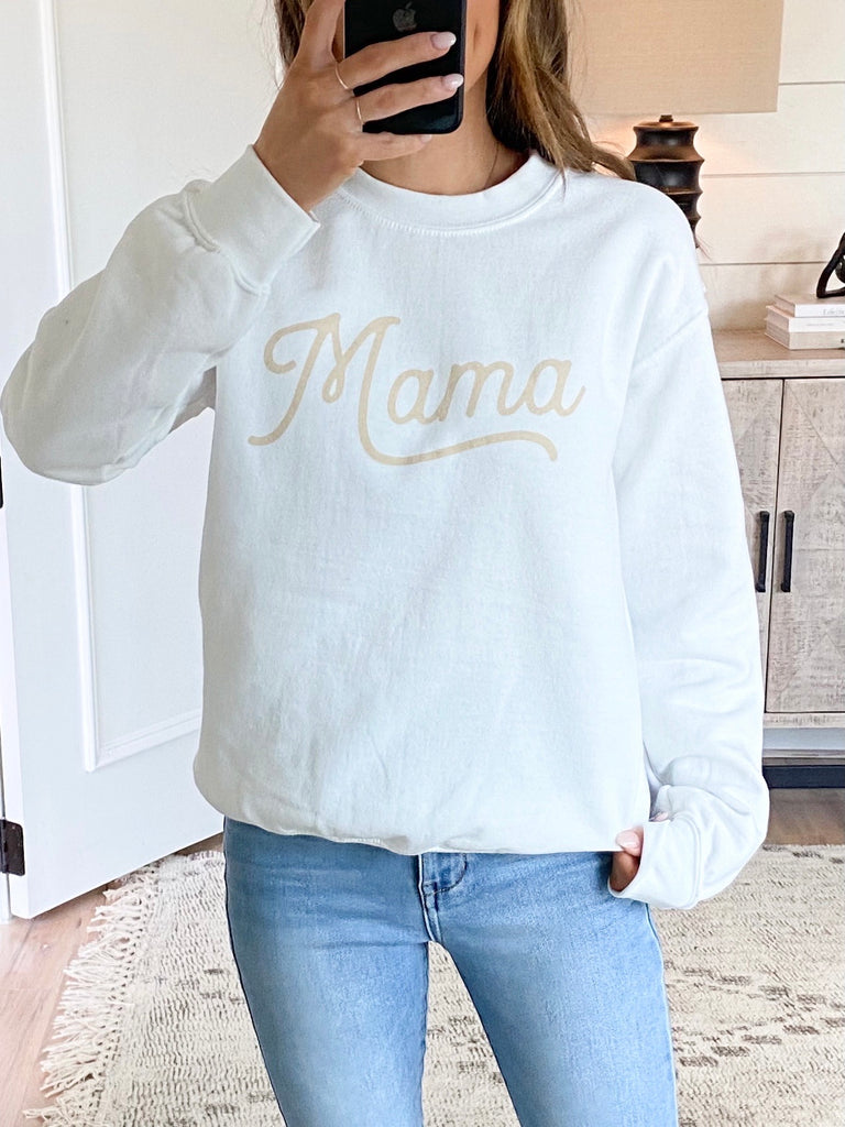 Mama Pullover | White | +Plus Available