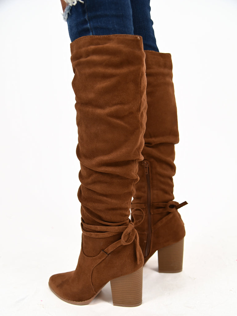 Georgia Knee High Boots | Brown | FINAL SALE