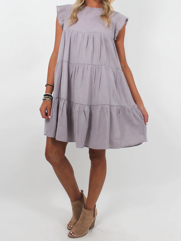 Effortless Shift Dress | Grey