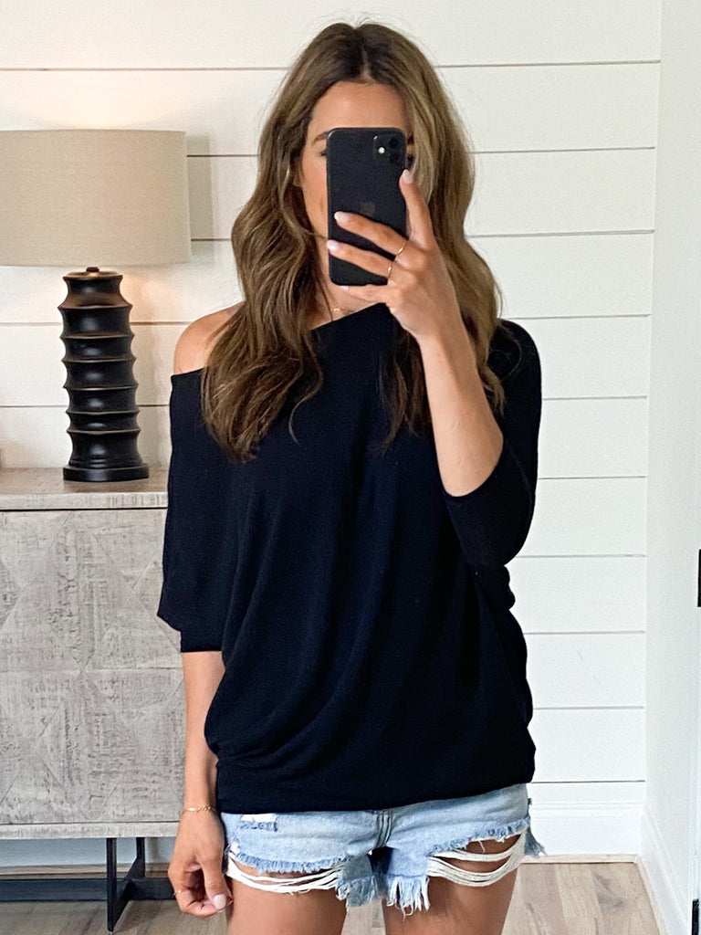 Favorite Tunic Top | Black | +Plus Available