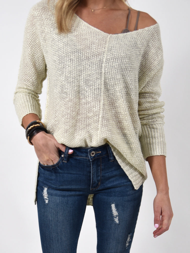 Indie Lightweight Sweater | Ivory | FINAL SALE
