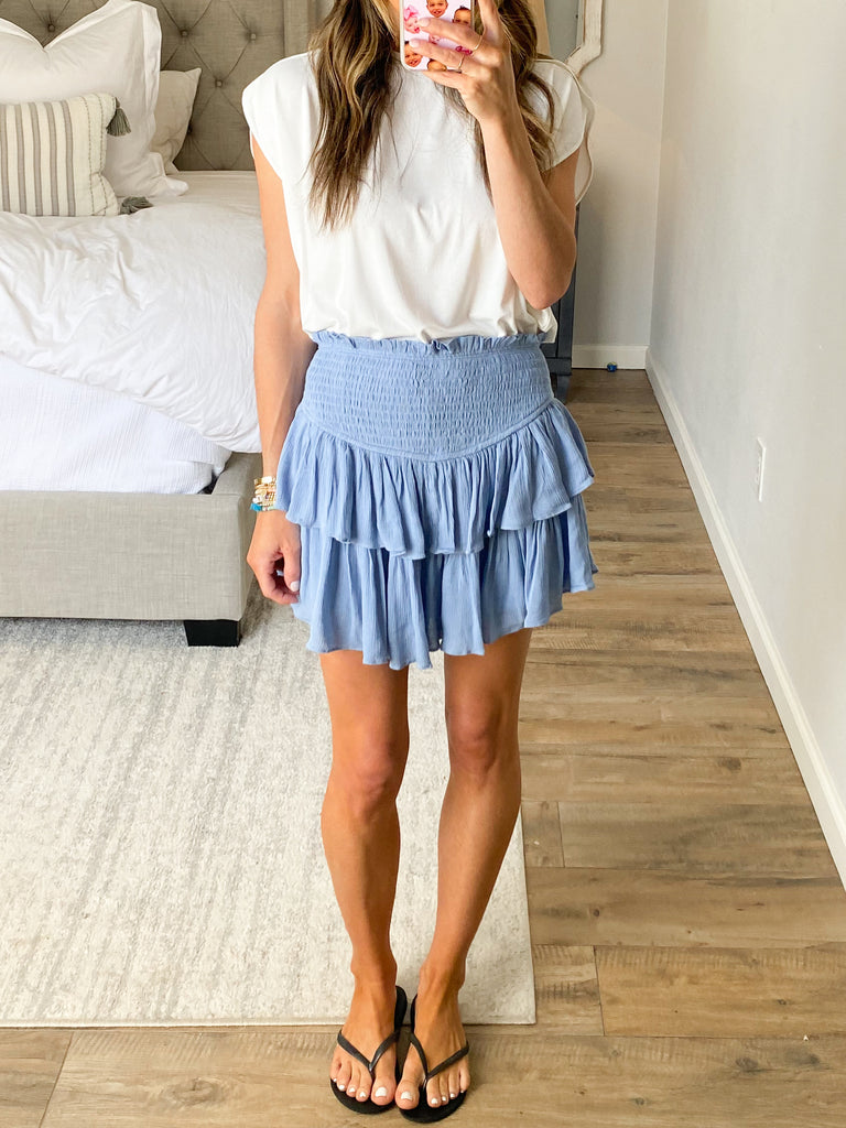 On Air Smocked Skort | Periwinkle