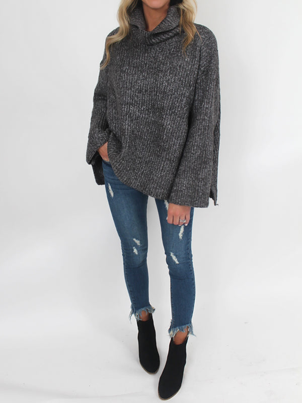 The Forever Cowl Neck Sweater | Charcoal