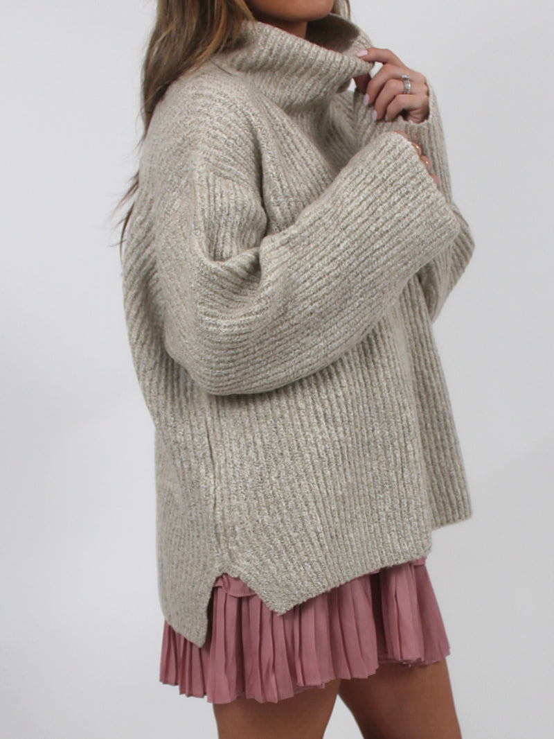 The Forever Cowl Neck Sweater | Oatmeal