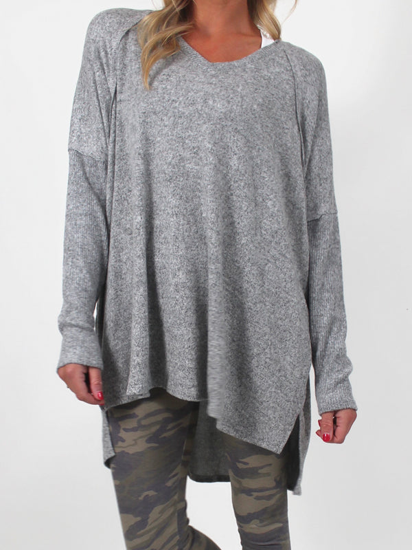 Brynn Knit Top | Grey