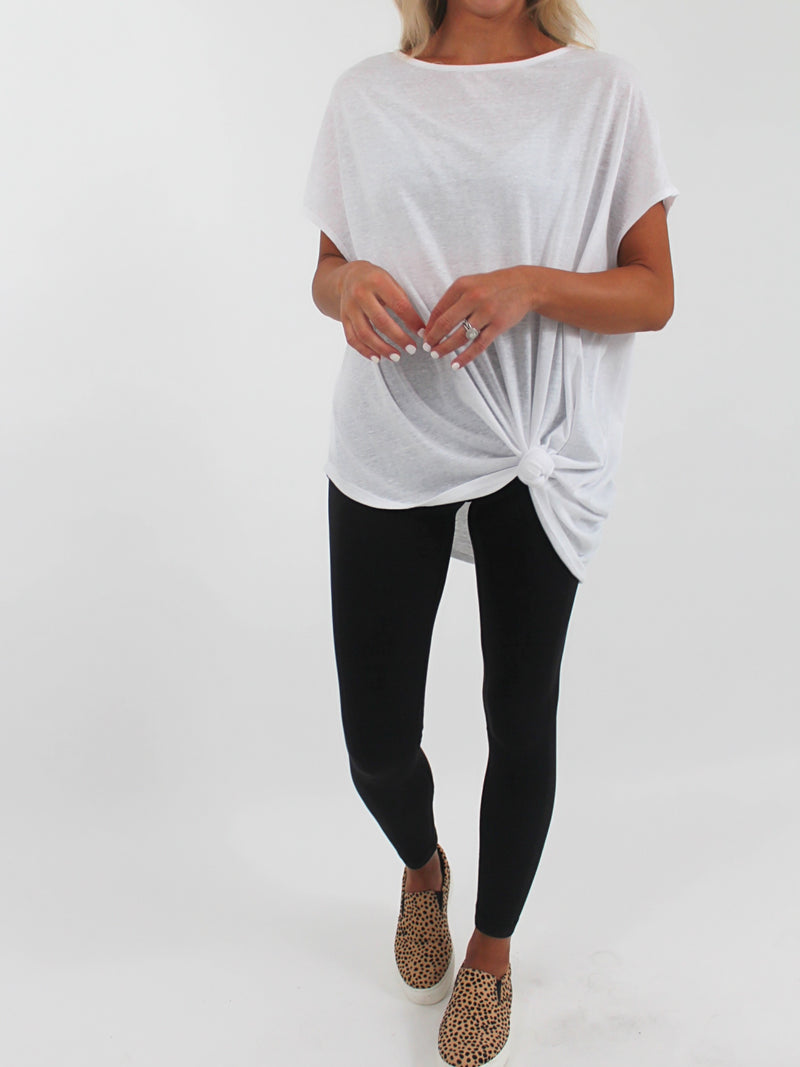 Oversized Tee l White (S-3X) | FINAL SALE
