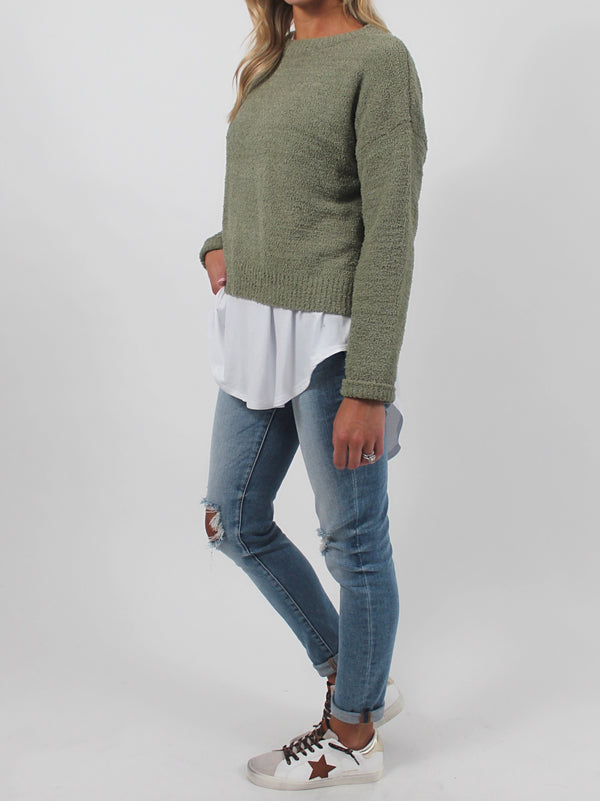 Cozy Up Knit Sweater | Olive