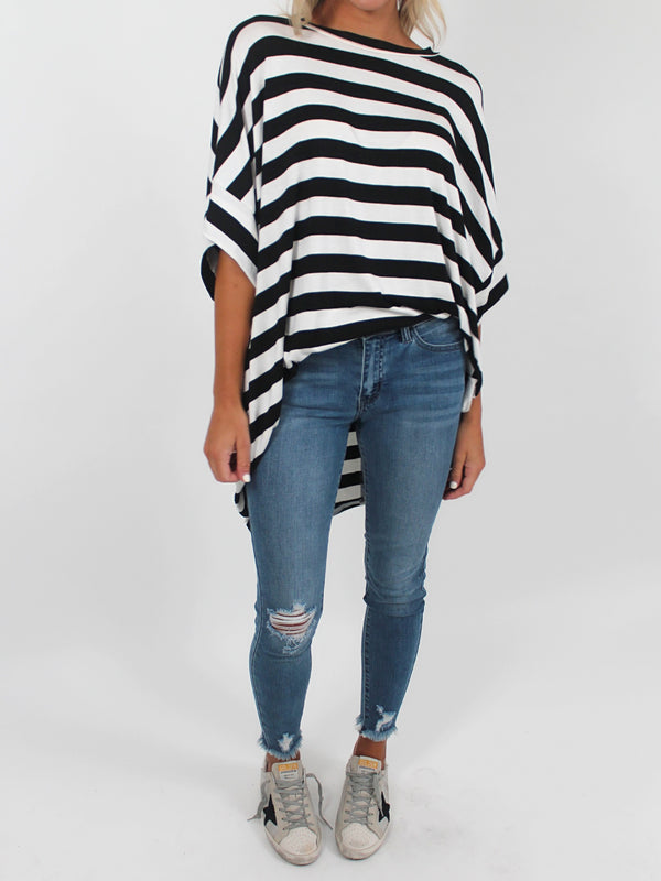 Black & White Stripe Tunic