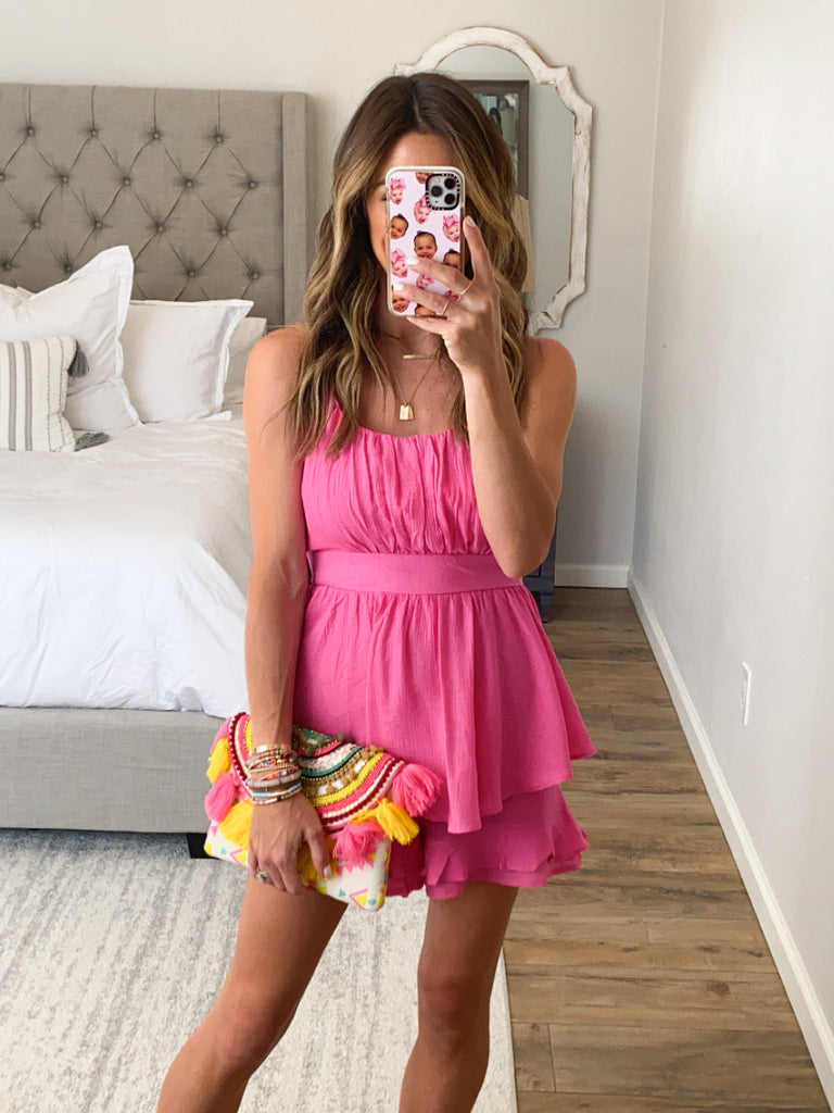 Wild Pursuit Romper | Hot Pink