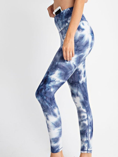 Tie-Dye Butter Soft Legging | Blue | +Plus Available