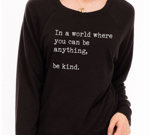 Be Kind Pullover | Black