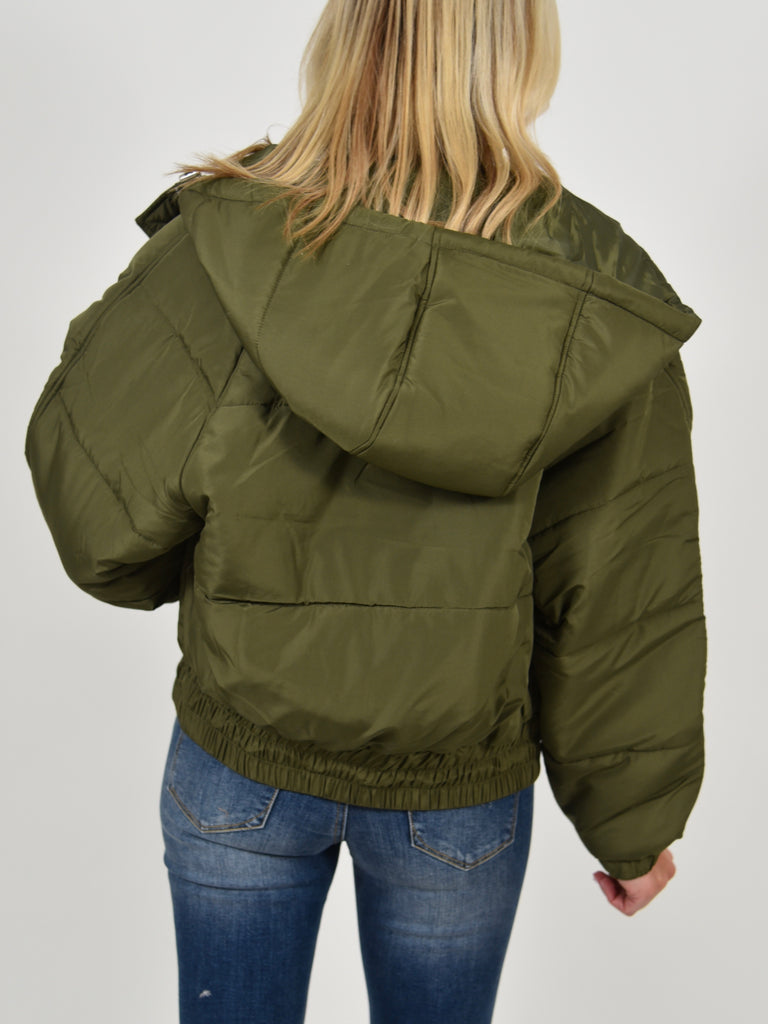Freestyle Hooded Bomber Jacket | Olive | FINAL SALE