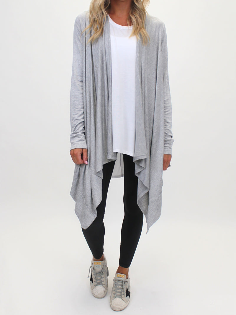 Hang Low Cardigan | Grey