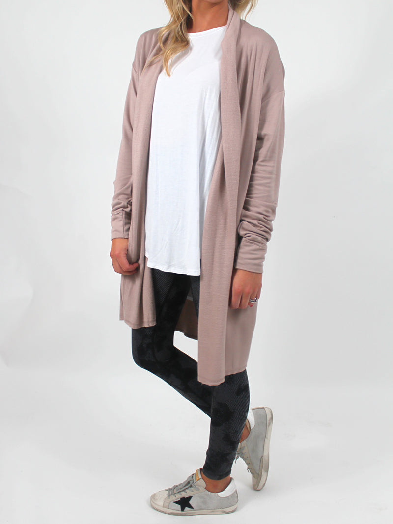 Luxe Open Wrap Cardi | Sand