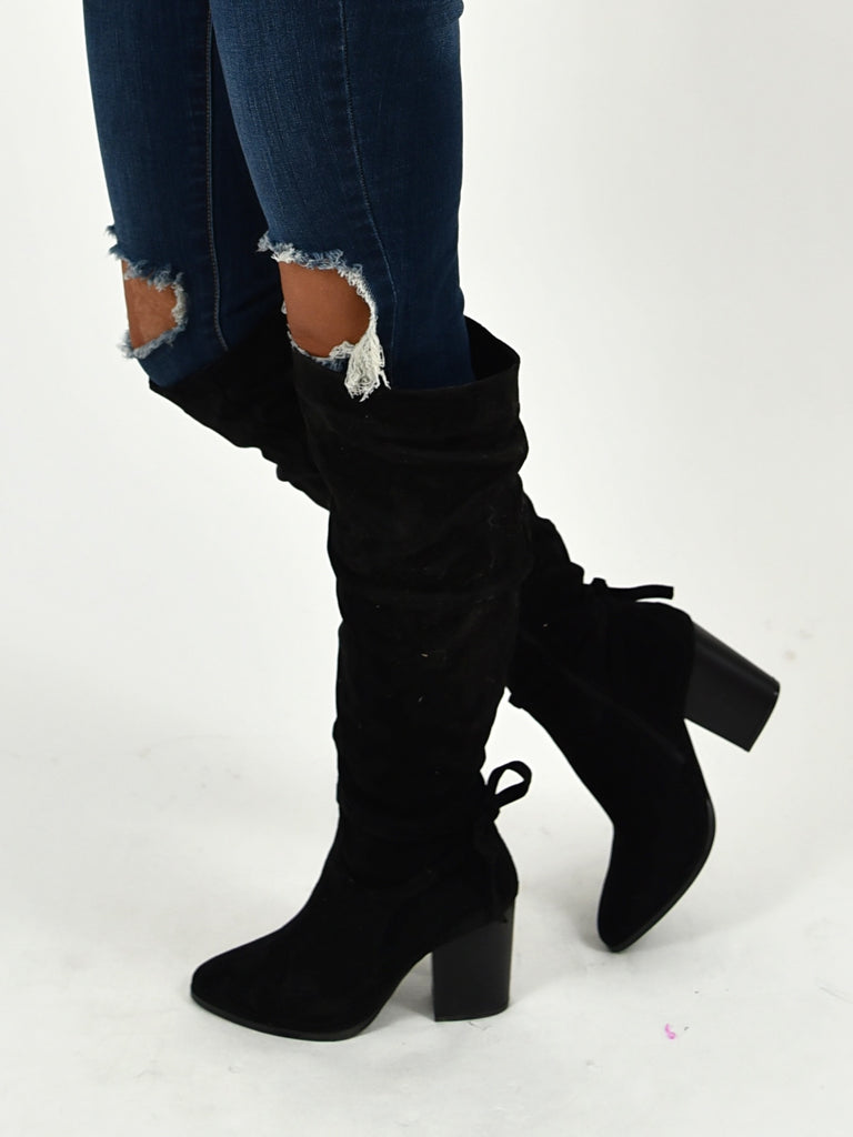 Georgia Knee High Boots | Black | FINAL SALE