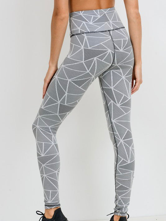 B + W Pattern Legging