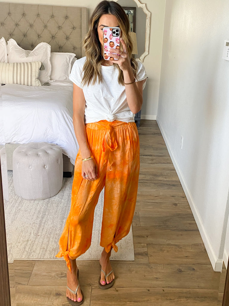 Wanderer Wide Leg Pant | Orange