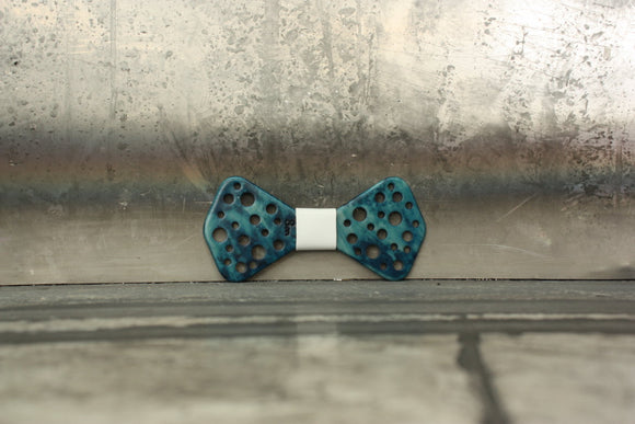 Papillon in resina Holes Blu