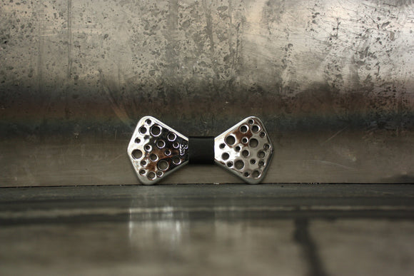 Papillon in resina Holes Silver
