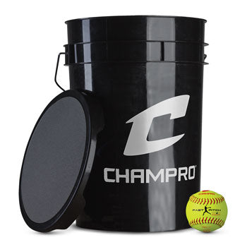"11"" FAST PITCH - DURAHIDE COVER; PU CORE - BUCKET W/2 DZ."