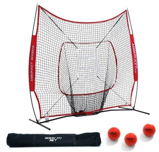 7x7 Ft Sock It Net PRO With 3 Training Balls & Target