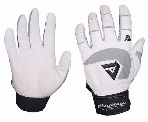Akadema BTG 450 Batting Gloves - White/Grey