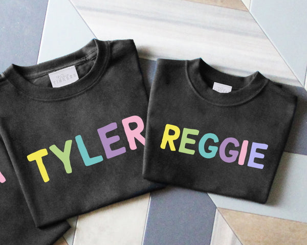 Childrens Rainbow Name Sweatshirt