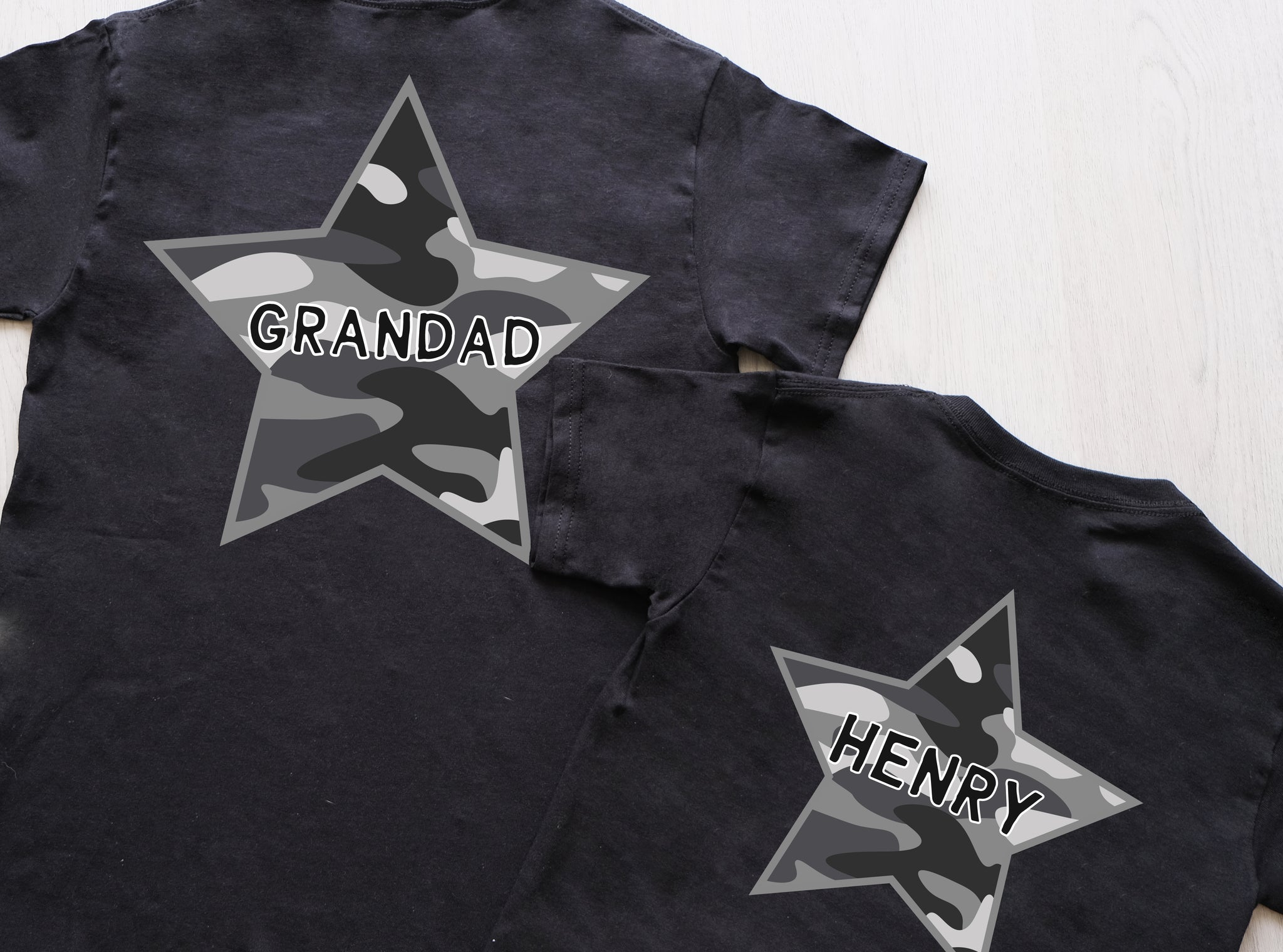 Childrens Camo Star Tshirt