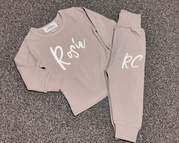 Childrens Calligraphy Loungewear Set