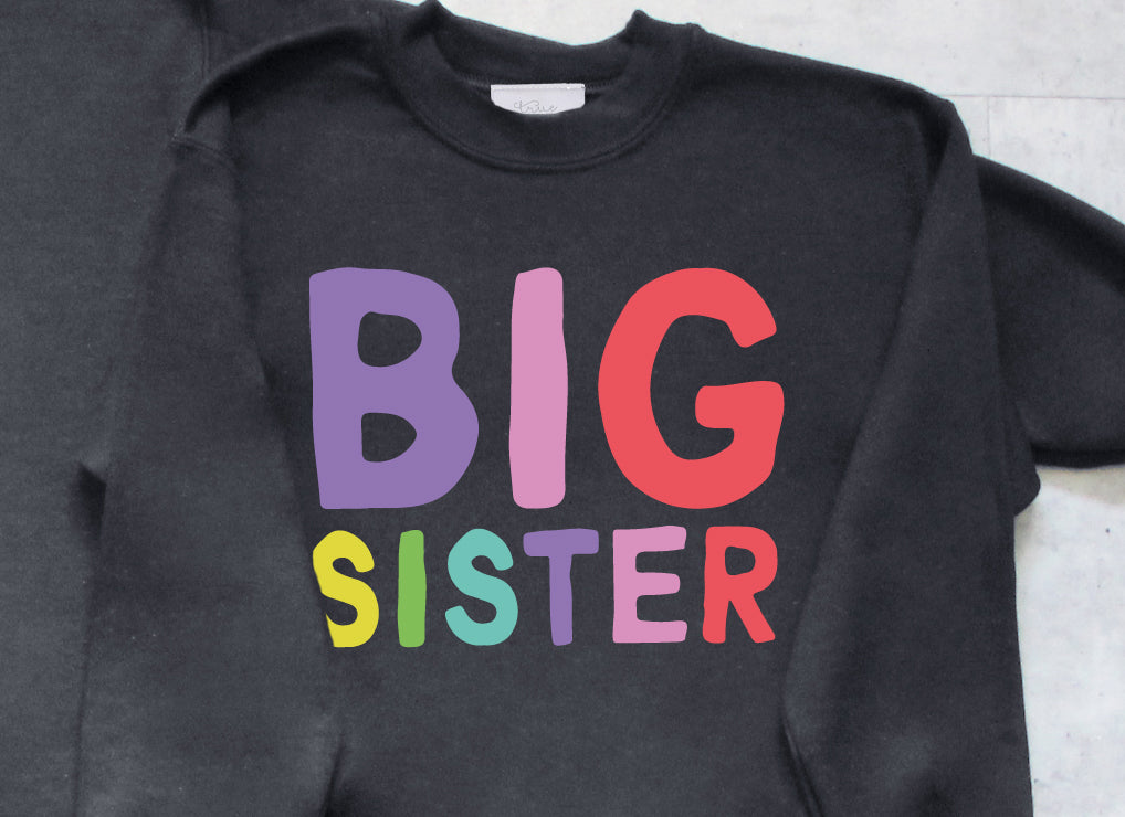 Childrens Rainbow Siblings Sweatshirt