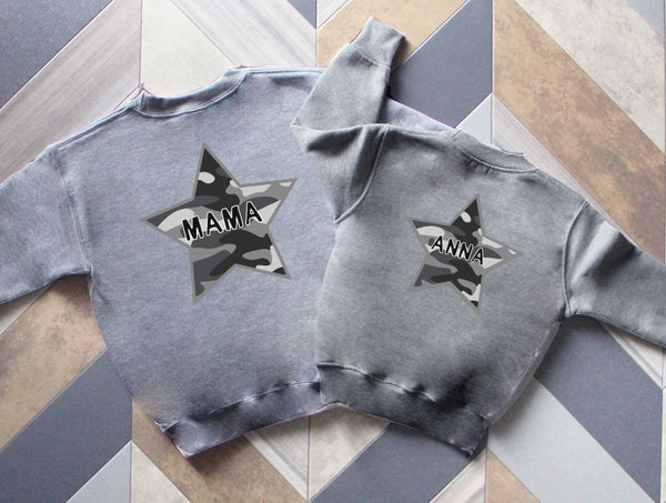 Adults Camo Star Sweatshirt