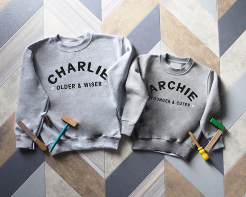 Childrens Older and Wiser/ Younger and Cuter Sweatshirt