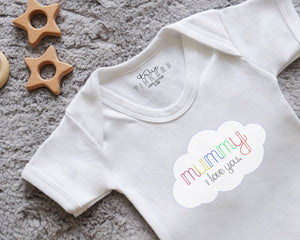 Children's Mothers Day Cloud Message Bodysuit/ Sleepsuit/ TShirt