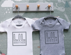 Big Sibling/ Lil Sibling Stamp Bodysuit