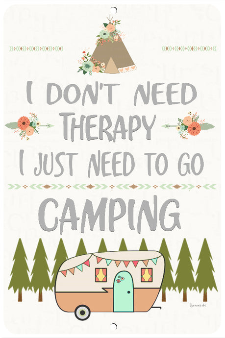 Camping Therapy Sign