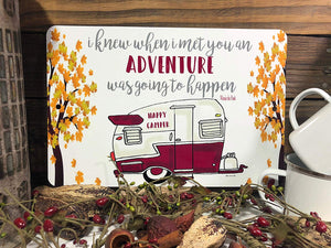 Dyenamic Art Camper Sign Camping Metal Sign Vintage Camper Sign   Indoor/Outdoor Aluminum Sign Camping Decor Easy Hanging Made in USA