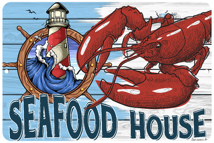 Seafood House Lobster Sign