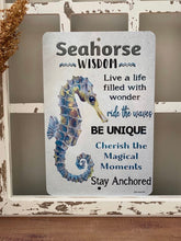 Load image into Gallery viewer, Seahorse Wisdom Sign