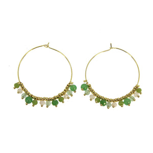 GREEN MYRIADE HOOP EARRINGS