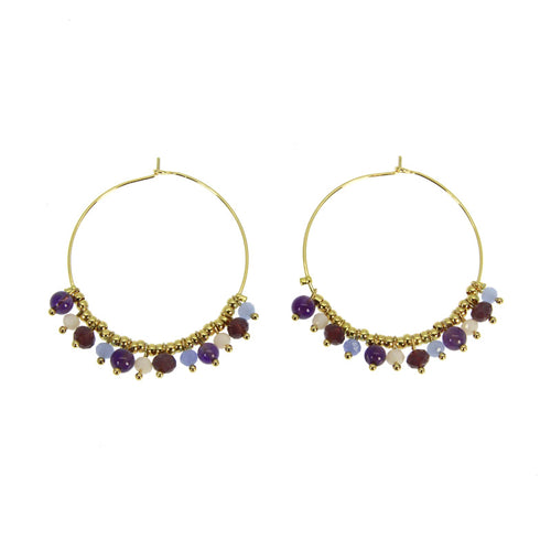 VIOLET MYRIADE HOOP EARRINGS