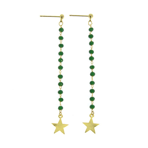GREEN STAR EARRINGS