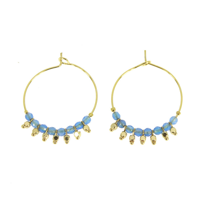 Blue Ethnica Hoops
