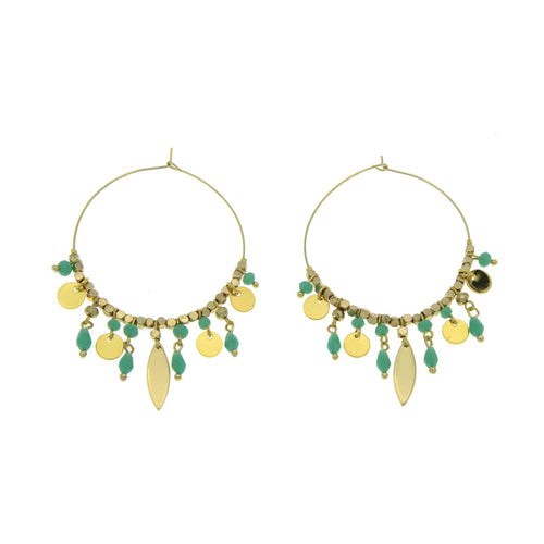 MINT ATHEOS CREOLES HOOP EARRINGS