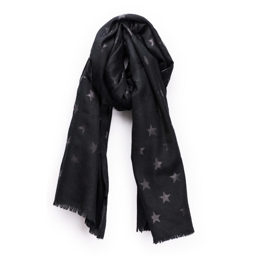 Black Star Pashmina - Black