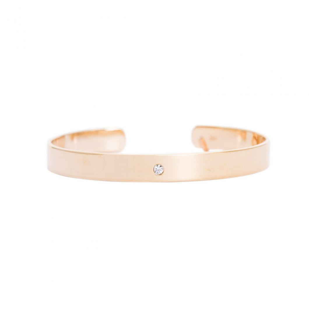 GOLD SINGLE ZIRCONIA JONC BRACELET