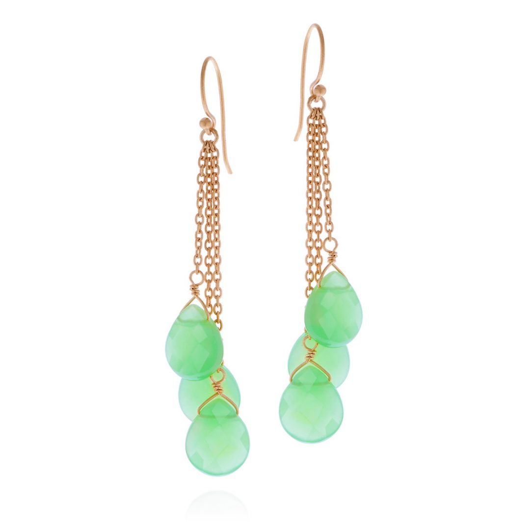 Green Chalcedonia Drops