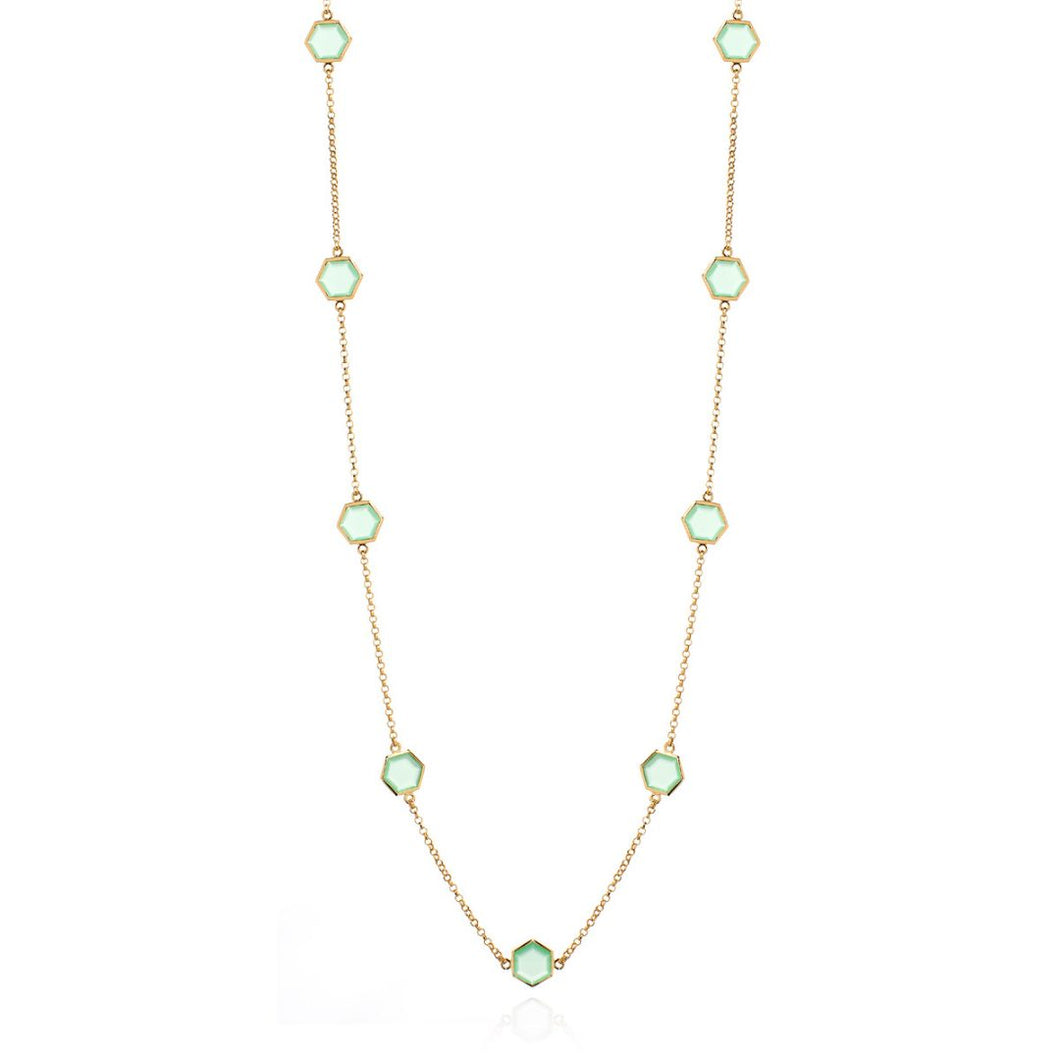 GREEN PERIDOT HEXAGONAL CHAIN
