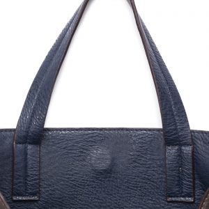GREY & NAVY REVERSIBLE CROSS-BODY HANDBAG