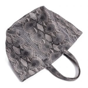 Faux Grey Snake Skin Large Tote