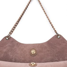 Load image into Gallery viewer, Taupe Chain Trim Tote